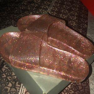 Glitter slides